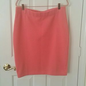 Banana Republic Pink Stretch Pencil Skirt Size L